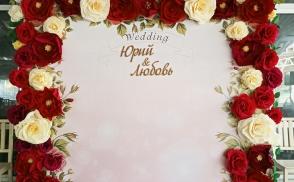 фотозона на свадьбу из бумажных цветов киев