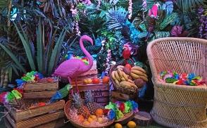 гавайская вечеринка фотозона оформление киев