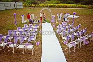 оформление лиловой свадьбы киев