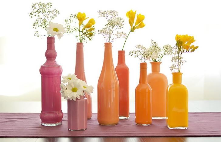 Бутылки вместо ваз